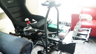 DOF Reality H3 racing simulator
